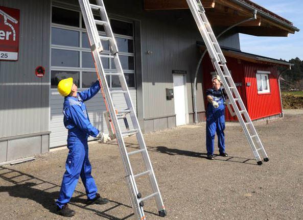 Siga as normas do Curso de NR-35 trabalho em altura para ter precauções com escadas